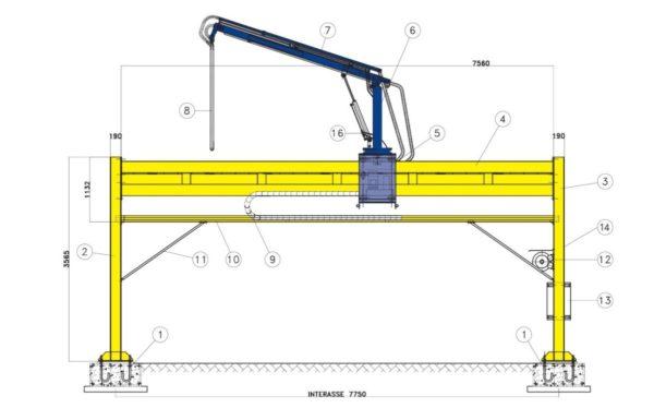 Sonda pentru prelevare cereale DV Stork Rail